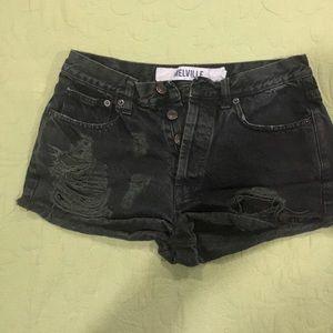 melville black shorts